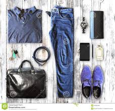 men set set of men s clothing and accessories stock photo image of