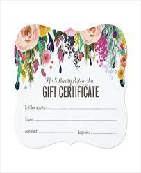 salon gift card salon gift certificate template giftcard saloongiftcertificate