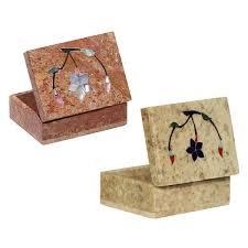 bulk buy 4x3 rectangular jewelry box wholesale marble inlay