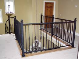 inspiring wrought iron balcony railings with black stained wrought