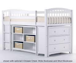 Princess Bookcase Princess Castle Low Loft Bed Twin Size Girls White Playhouse