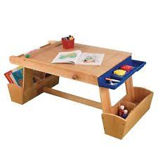 kids art table with storage kids art table ebay
