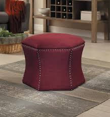 Ottoman Red by Homelegance Kennelly 2 Piece Storage Ottoman Set Red 4510red
