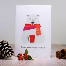 retro scandinavian polar card by danby