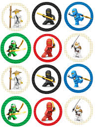ninjago cake toppers ninjago free birthday party printables delicate construction