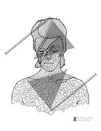 coloring pages coloring for adults david bowie mosaic