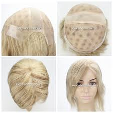 hair pieces for crown area lw4058 full mono cap wig with stretch lace on crown