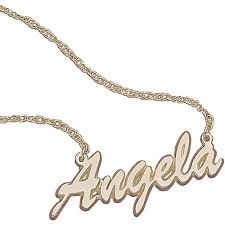 name gold necklace personalized women s 10k gold script name necklace 18 walmart