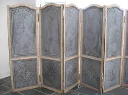antique room divider 19th century french painted six panel musical theme screen for