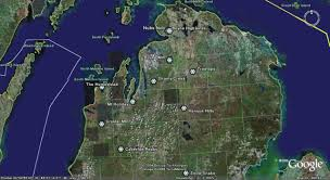Michigan Google Maps by Midwest Grays On Trays