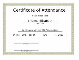 2017 certificate of attendance fillable printable pdf u0026 forms