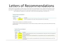 College Recommendation Letter Thank You Note 4 Senior Responsibilities Ppt