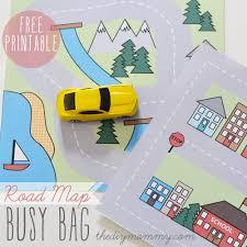 make a mini road map busy bag u2013 free printable the diy mommy