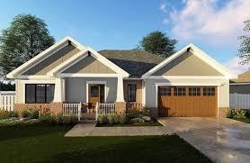 craftsman ranch house plan 62565dj architectural designs