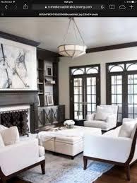 taupe walls black windows dark wood flooring stylishhome