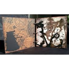 Chipboard Albums Whovian Inspired Mini Chipboard Album Kit
