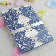 wedding invitations blue top sell royal blue flower lace marriage engagement wedding