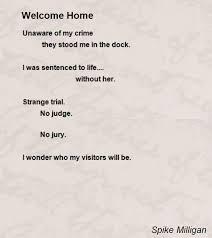 welcome home poem by spike milligan poem