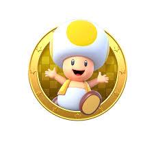 yellow toad logo super mario meme