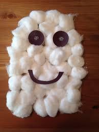 cotton ball ghost craft halloween craft preschool craft kids