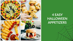 easy halloween appetizers recipes 4 easy halloween appetizers youtube