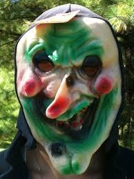 amazon com scary hooded vinyl halloween costume hooded mask green