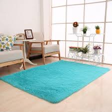 rectangle shaggy fluffy rugs anti skid area rug dining room carpet