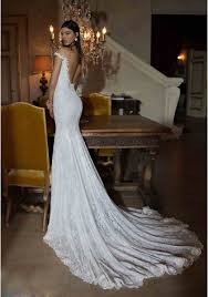 trumpet wedding dresses the shoulder v neck lace backless trumpet mermaid wedding