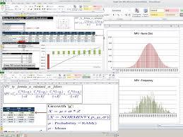Monte Carlo Simulation Excel Template Monte Carlo Simulation Npv Exle