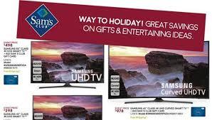 sam s club tv deals beat walmart black friday tv ads