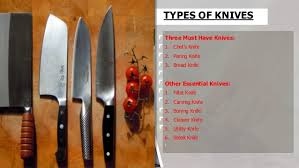 must kitchen knives types of knives