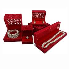 bracelet jewelry box images 5pcs set red velvet jewelry box ring earring pendant necklace jpg