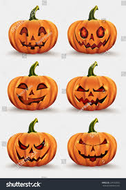 vintage moon pumpkin halloween background pumpkins halloween set stock vector 324752825 shutterstock
