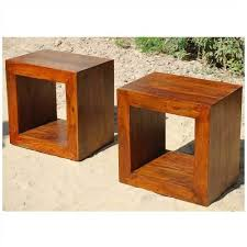 bed and side table set solid wood block coffee table book shelf bed side table set book