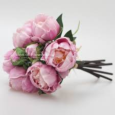 Flower Home Decoration by Light Fushcia Peony Bouquets Real Touch Flowers For Wedding Bridal