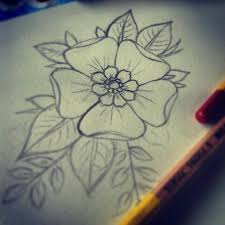 tattoo flower drawings cool flower sketches best pencil flower drawing best pencil