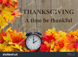 time be thankful autumn leaves alarm stock photo 401134291