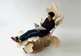 Unique Lounge Chairs Design Ideas Unique Wooden Lounge Inspired By Beautiful Petals Petal Lounge