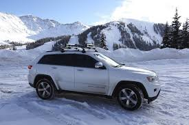jeep grand luggage rack on the road opinion thule 6 ski roof rack onthesnow