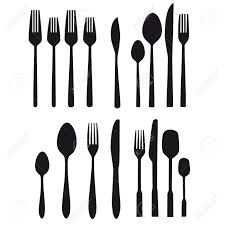 Black Cutlery Set Cutlery Food Table Silverware Kitchen Fork Spoon Cutlery Set