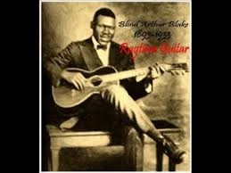 Black Blind Musician West Coast Blues Blind Blake 1926 Ragtime Blues Guitar Legend