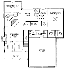 Home Plans With Master On Main Floor Traditional Style House Plan 3 Beds 2 50 Baths 1815 Sq Ft Plan