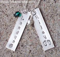 child name necklace personalized jewelry sted jewelry stacking rings metal