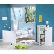 nino lit chambre transformable 60x120 blanc gris de sauthon baby s