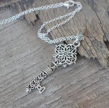 antique silver key necklace images Wholesale antique silver house key necklace fragmented keys jpg