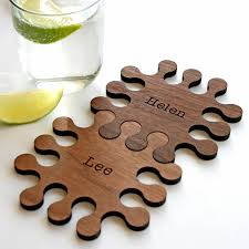 wooden drink coaster placements and coasters notonthehighstreet com