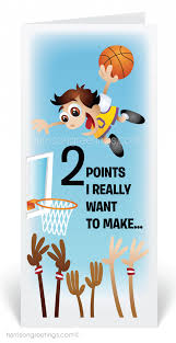 cartoon basketball player thank you cards 80101 ministry