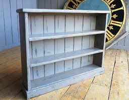 furniture tall maple wood distressed bookcase for living room