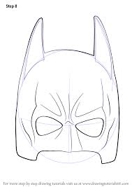 learn how to draw batman mask batman step by step drawing