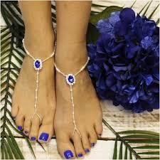 barefoot sandals sapphire blue beaded barefoot sandals blue jewelry blue